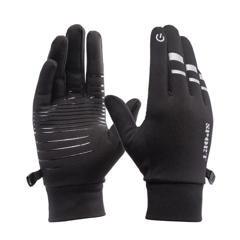 Waterproof Gloves Men Women Winter Touch Screen Windproof Mittens Glove Female Sports Warm Velvet Cycling Gloves