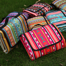 NEW WILLOW ethnic wind outdoor Moisture proof mat picnic portable lawn camping