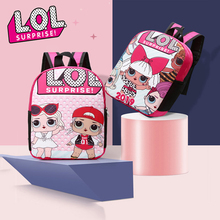 LOL Surprise Dolls Cartoon Printing Student Backpack for Teenage Girls Double Shoulder High Capacity School Bags Gifts