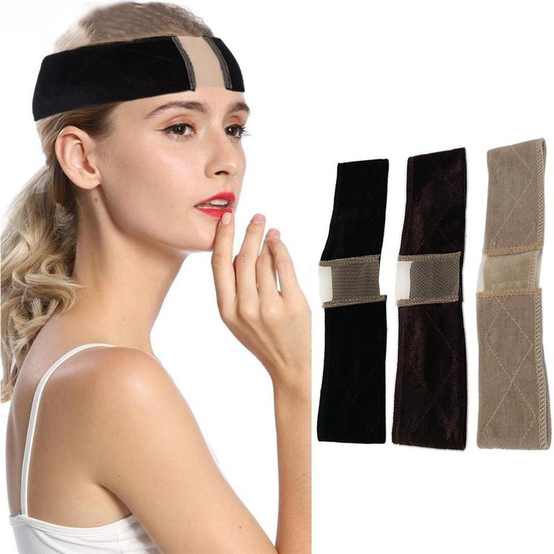 Multi-purpose Non-slip Adjustable Soft Velvet Wig Headband Street Shot Hair Band Lace Parting Wig Grips Headband Hair Accessorie