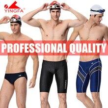 Yingfa masculino competição treinamento de corrida jammers troncos de natação profissional cuecas todo o tamanho fina aprovado 9205 9102 9402