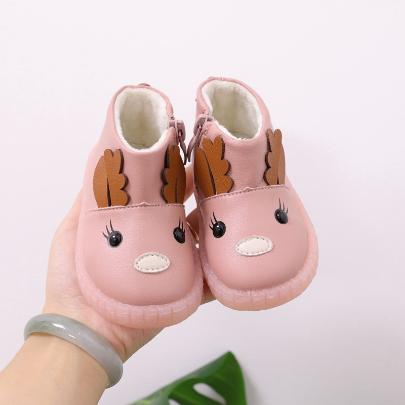 Children's Shoes Cartoon Baby Cotton Boots 1-2 Years Old Children's Boots Princess Soft Bottom Toddler Shoes