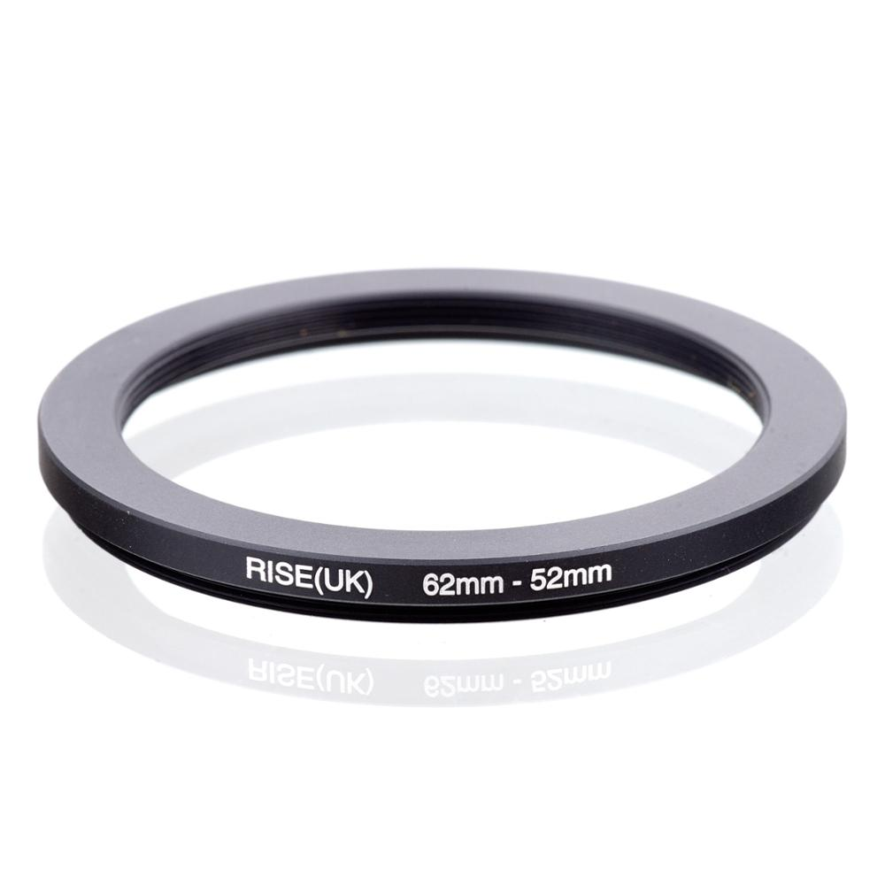 RISE(UK) 62mm-52mm 62-52 Mm 62 To 52 Step Down Filter Ring Adapter