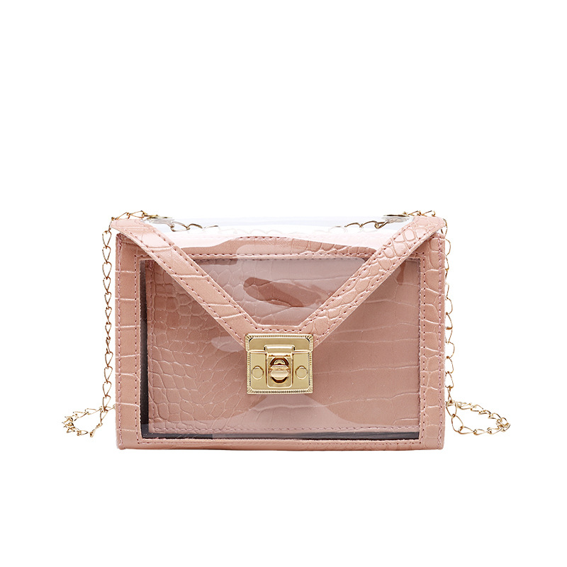 Vento Marea Alligator Crossbody Bag For Women 2020 Chain Jelly Pvc Transparent Bag Shoulder Summer Beach Lady Purse And Handbags