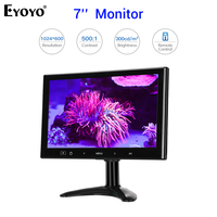 Eyoyo-Pantalla de Monitor LCD DE SEGURIDAD EM07L de 7 pulgadas, 1024x600, HDMI, VGA, AV, con Control remoto, 12V