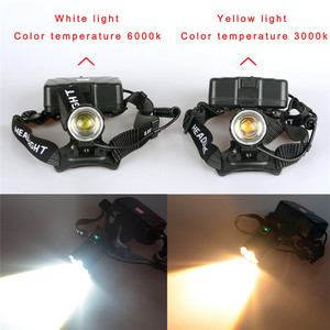 Image 3 - High bright Yellow XHP70.3 LED Headlamps Heavy foggy snowy Fishing most powerful XHP70.2 headlights torch ZOOM use 18650 Battery