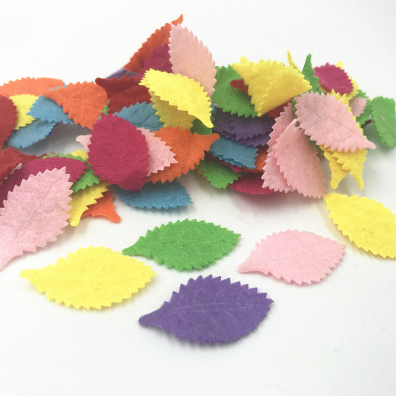 500pcs Mixed Colors star shape Felt Appliques Crafts Card Making decoration 25mm