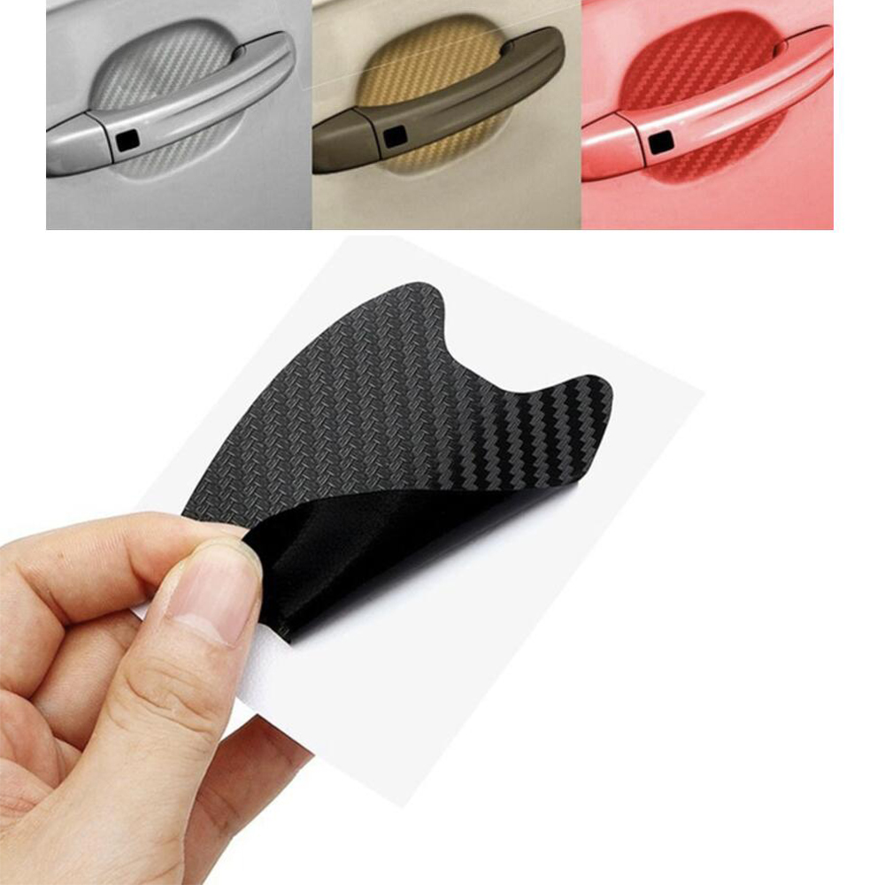 4pcs/lot Car Handle Protection Film Universal Invisible Car Carbon Fiber Door Handle Stickers Scratches Resistant Sticker