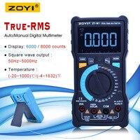 Aletler'ten Multimetreler'de ZOYI true rms dijital multimetre ölçü aleti AC DC gerilim akım Ohm sıcaklık multimetre pil ölçer + VFC fonksiyonları ZT M0/M1