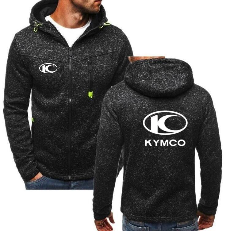 Hot Winter New Fashion KYMCO Motorcycle Hoodie Men Zipper Cardigan Hoodie Sweatshirts Casual Coat Tops