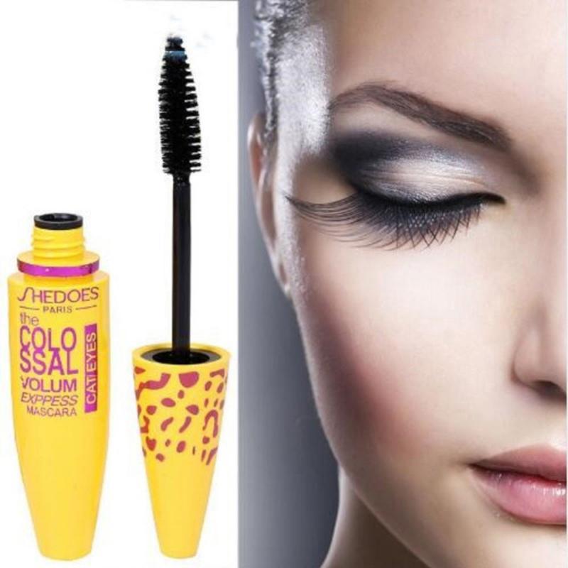 Black Ink 3d Fiber Lashes Mascara Individual Curl Eyelash Colossal Mascara Volume Express Makeup  Individual Curl Eyelash TSLM1