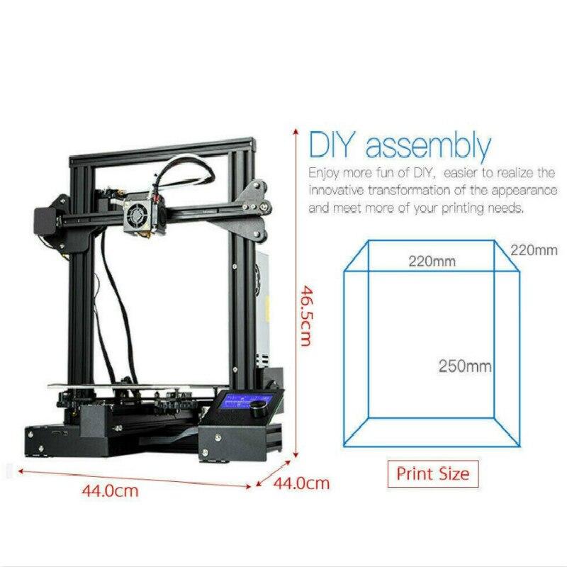 CTC A13 DIY Kit Creality 3D mejorada de alta precisión DIY 3D impresora Auto montaje 220*220*250mm Tamaño de impresión - 4