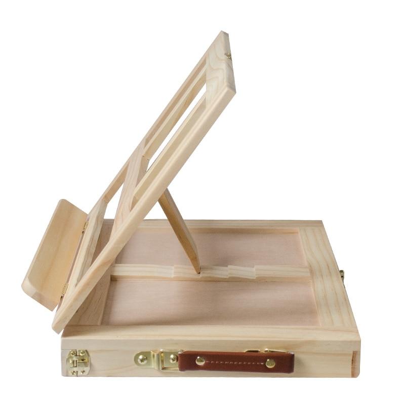 Mengmate Sketch Desktop Drawer-type Pine Wood Easel Folding Oil Easel You Hua Xiang