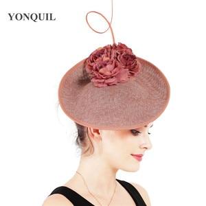 Image 5 - Charming Big Hair Fascinators For Kenducky Nice Hats Elegant Women Fedora Caps Fancy Nice Flower Ladies Headwear Hair Pins