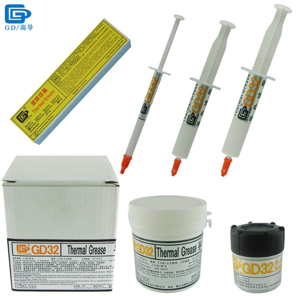 Net Weight 1/15/20/<font><b>30</b></font>/70/150/1000 Grams GD32 Thermal Grease Paste Plaster Heat Sink Compound SY1 SY15 Y30 ST70 CN20 CN150 CN1000 image