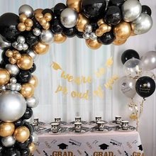Birthday Balloon Garland Arch Chrome Black Gold Latex Balloon Wedding Decorations Bachelorette Party Balloons Birthday Globos
