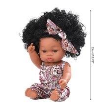 Реалистичная кукла 35 см мягкая виниловая игрушка для малышей
