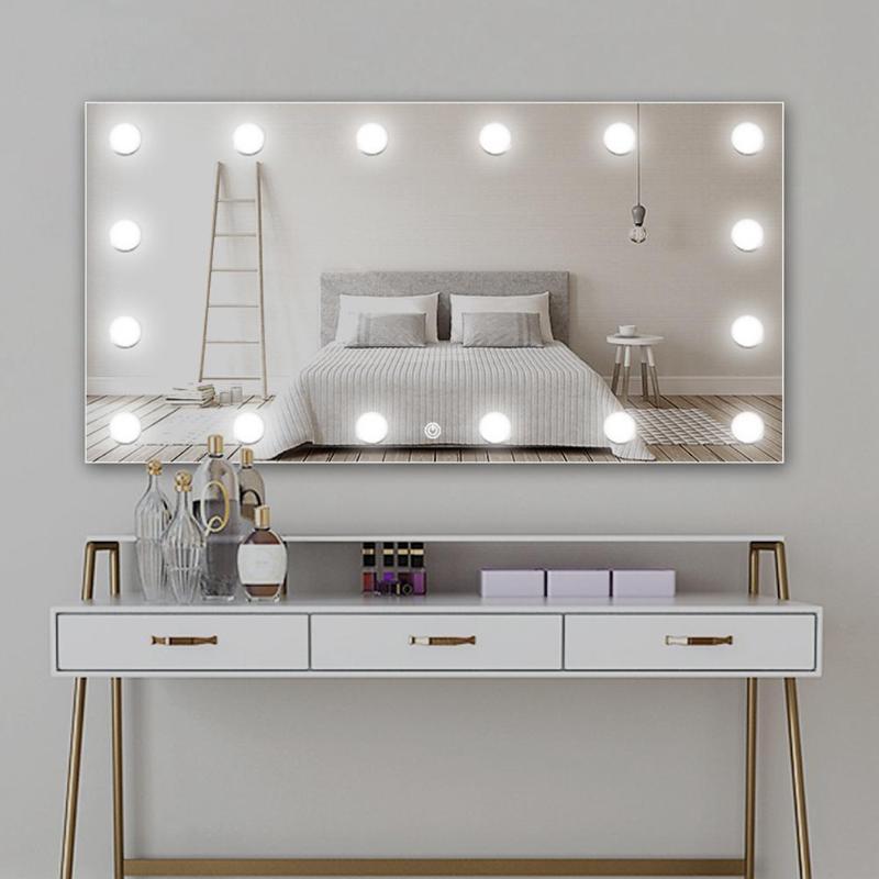 USB LED 5V Makeup Mirror Light Bulb Hollywood Vanity Lights Stepless Dimmable Wall Lamp 2 6 10 14Bulbs Kit For Dressing Table