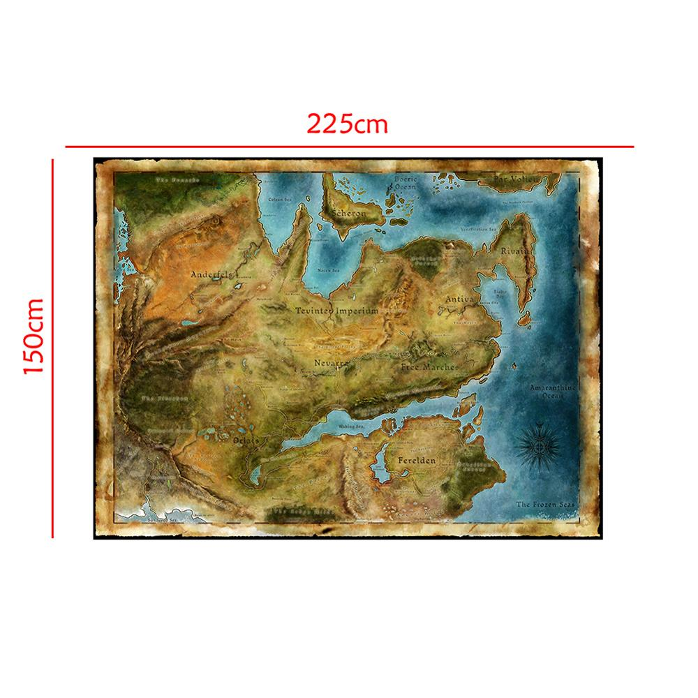 150x225cm Non-woven Map Of Dragon Age Classic Video Games Diagram Poster Art Silk Light Canvas Home Room Wall Printing Decor