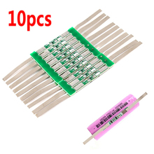 10 pces 3.7v 3a li ion bateria de lítio 18650 carregador sobre a placa de proteção de carga com cinto de solda #246061