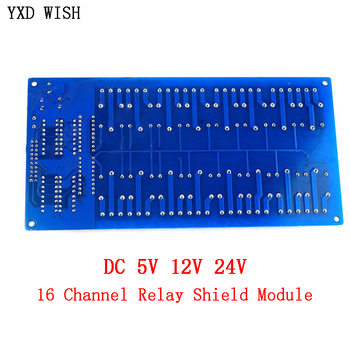 16 Channel Relay Shield Module DC  with Optocoupler LM2576 Microcontrollers Interface Power Relay