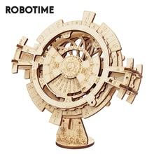 Robotime ROKR Perpetual Kalender 3D Puzzle Holz Spielzeug Montage Modell Gebäude Kit Spielzeug für Kinder LK201 Drop Verschiffen