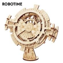 Robotime ROKR تقويم دائم ثلاثية الأبعاد لغز ألعاب خشبية التجمع نموذج بناء عدة لعب للأطفال LK201 انخفاض الشحن