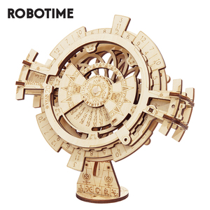 Image 1 - Robotime Rokr Perpetual Kalender 3D Puzzel Houten Speelgoed Assemblage Model Building Kit Speelgoed Voor Kinderen LK201 Drop Shipping