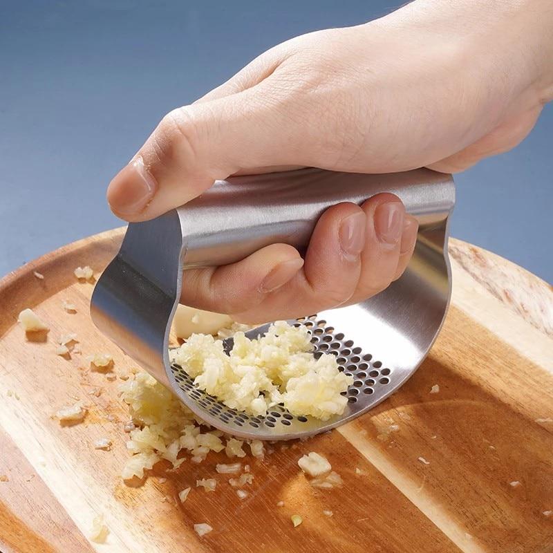 Manual Garlic Press Rocker Stainless Steel Garlic Crusher Garlic Mincer Presses Ginger Press Squeezer Kitchen Gadgets