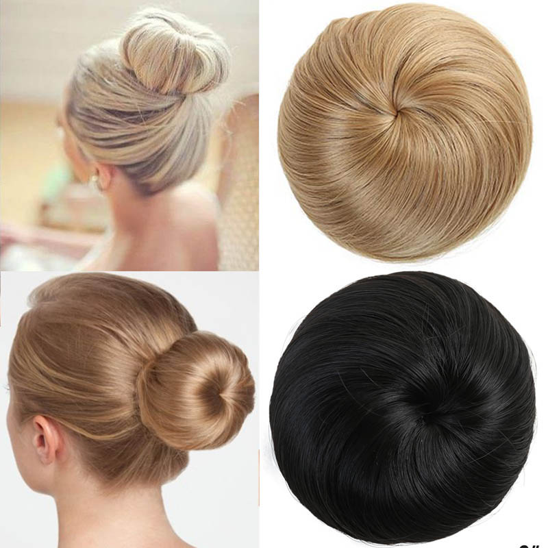 MANWEI Synthetic Bun Extensions Curly Messy Bun Hair Scrunchies Elegant Chignons Wedding Hair Piece for  For Ponytail Extensions