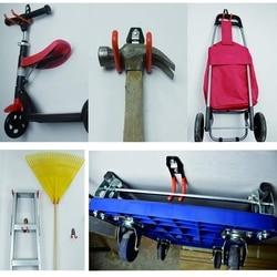 Ciężki hak garażowy stalowy hak drabinowy do wykańczania garażu haki garażowe naścienne mogą być montowane na ścianie na gwoździach ściennych w Haki i szyny od Dom i ogród na