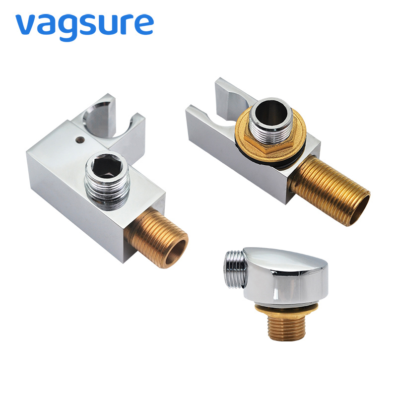 Vagsure Shower Holder Brass Shower Base Bathroom Shower Bases Seat Electroplate Faucet Room Accessories