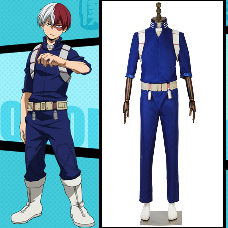 Anime Comic My Hero Academia Cosplay Costume Todoroki Shoto Cosplay Costumes School Uniforms Jumpsuits battle suit gym outfit
