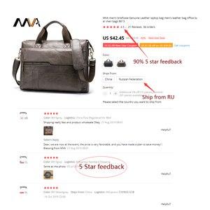 Image 5 - MVA hommes porte documents en cuir véritable pochette dordinateur hommes en cuir sac de bureau sacs pour hommes sacoche pour ordinateur portable avocat hommes sacs 8615