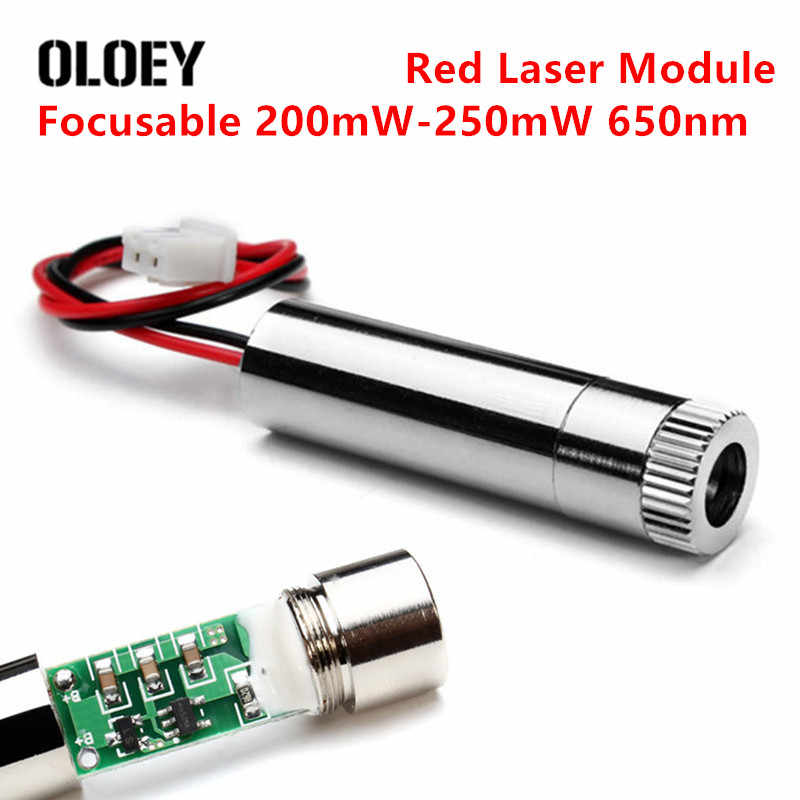 Red Dot Focusable 200mW-250mW 650nm Laser Module Laser Generator Diode Replacement Mini DIY Engraver Power Tools Accessories Set