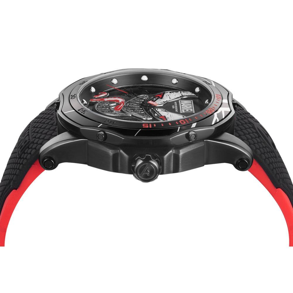Marvel Avengers venin hommes 5ATM montre étanche acier inoxydable Silicone bande homme Sport horloge à la mode armée Reloj noir Super héros - 3