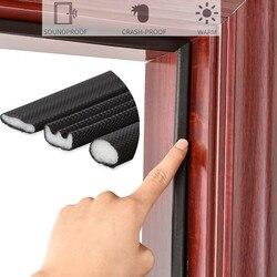 5M Self Adhesive Door Window Sealing Strip Soundproof Foam Seal Weather Stripping burlete puerta gap Filler Window Hardware