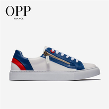 OPP 2020 Mens Fashion Low Leather Lace-up Casual Shoes Genuine Leather Stitching Casual Men #8217 s Shoes Loafers for Men cheap Cow Leather Rubber OC190789 Fits true to size take your normal size Mixed Colors Adult Breathable Summer Flats Medium(B M)