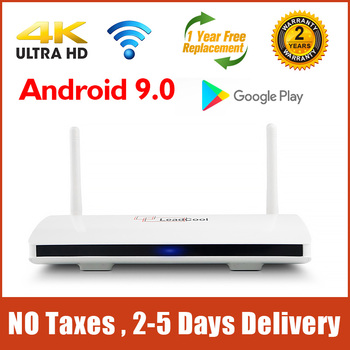 Leadcool Smart TV Box Android 9.0 Amlogic S905W 1GB/2GB 8GB/16GB 4K H.265 Media player 2.4G WIFI Full HD Leadcool Set Top BOX original global version xiaomi mi box 3 2gb 8gb android 6 0 smart 4k ultra hd movie wifi google media player multi language