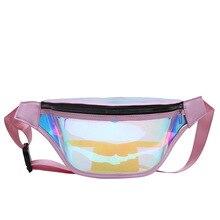 Laser waist bag transparent one-shoulder slanting bag recreational small backpack breastpack