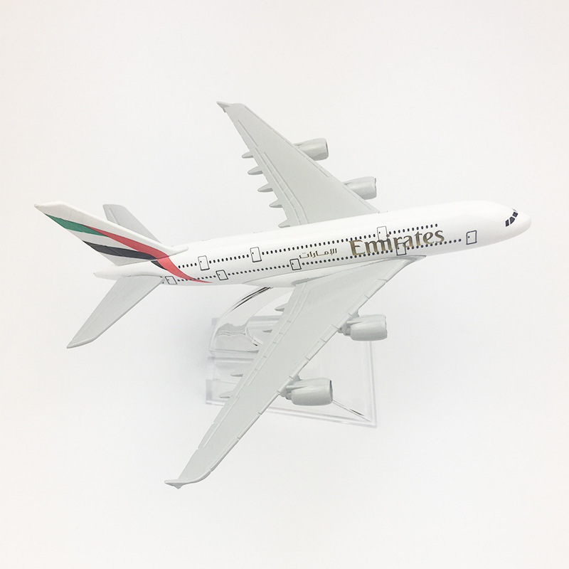 Collectible Aircraft <font><b>Model</b></font> Alloy Static Decoration 16CM Emirates <font><b>Airbus</b></font> <font><b>A380</b></font> Aircraft <font><b>Model</b></font> image