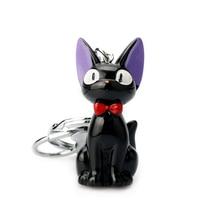 Kiki Cat 3D Mini Keychain Black JIJI keychain Anime Kikis Delivery Service Kids Toy Key Holder Trinket Collection Gifts