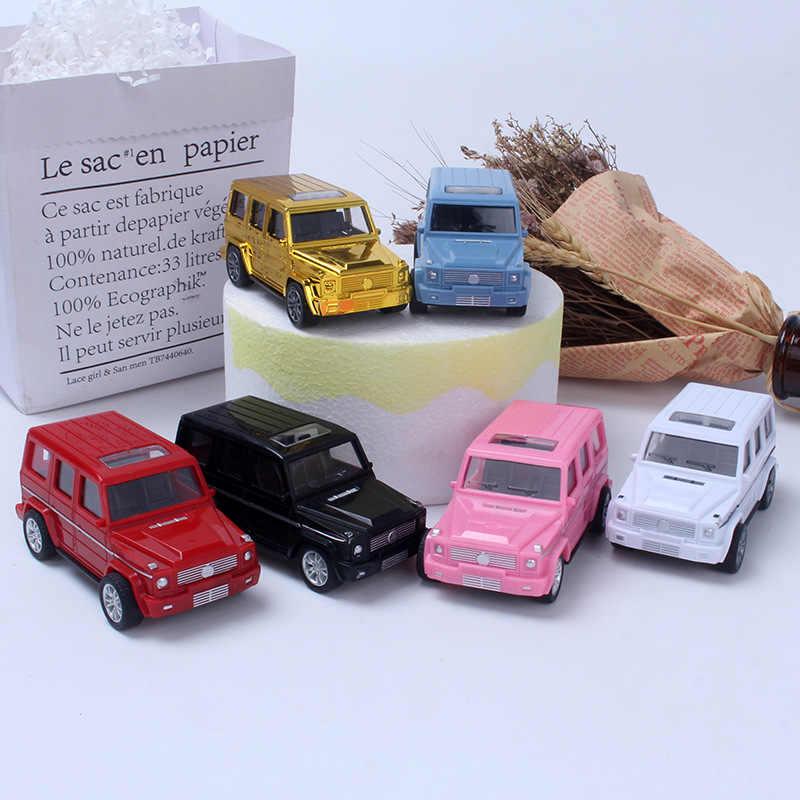 Modèle en plastique véhicule tout-terrain cuisson gâteau décoration jouet pour enfants tirer la voiture