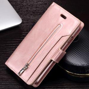 Image 4 - Voor Iphone X Xr Xs Max 12 Mini Vintage Rits Portemonnee Case Flip Holder Leather Cover Voor Iphone 8 7 6S 6 Plus 5 5S Se Coque Capa