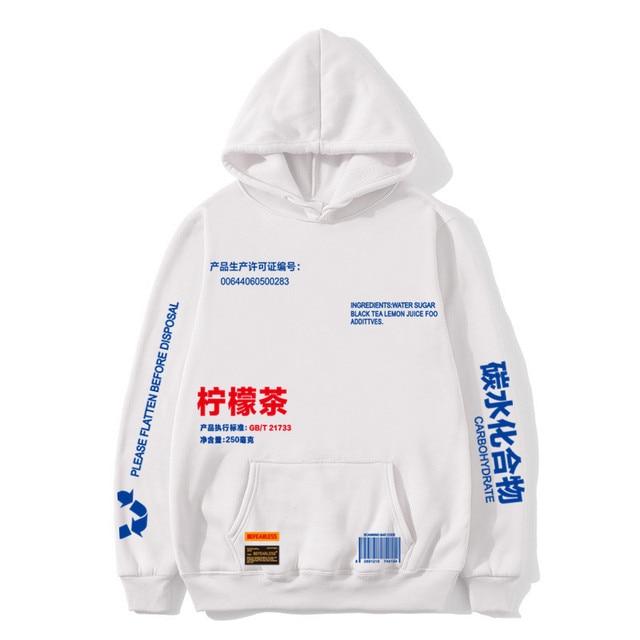 Hot hoodies Lemon Tea Printed Fleece Hoodies Men/Women Autumn Casual Pullover Sweats Hoodie Male Fashion Skateboards Sweatshirts 1