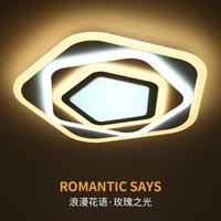 Arañas LED para sala de estar  dormitorio  comedor  anillos de acrílico  Araña de montaje en techo para iluminación del hogar