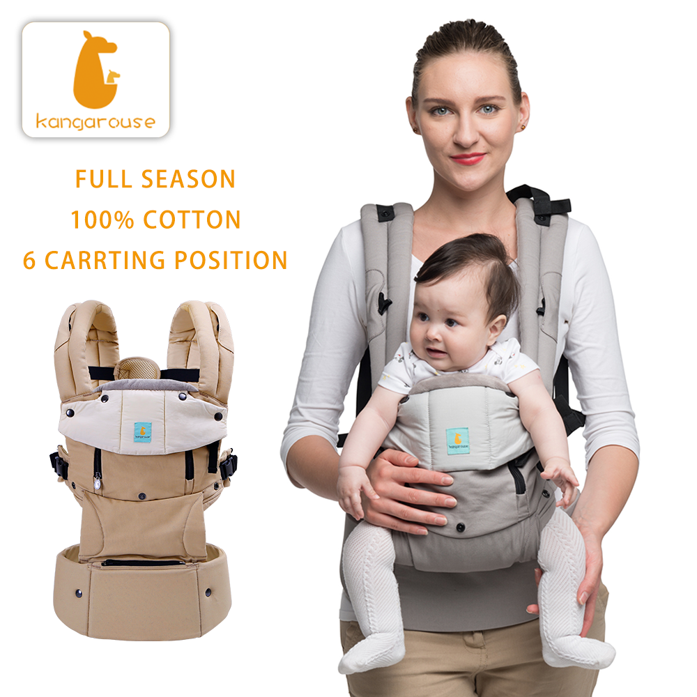 Kangarouse Full Season cotton ergonomic baby carrier for new-born to 36 month KG-200 title=