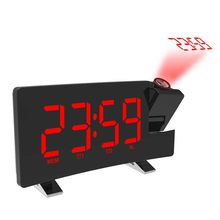 Baru Digital LED Proyektor Proyeksi Alarm Clock Radio Timer Backlite Set(China)