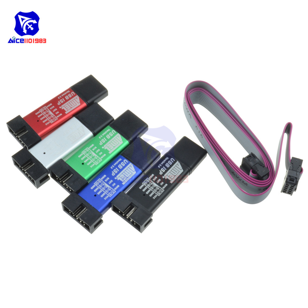 Mini USBISP USBASP Programmer Aluminum for 51 ATMEL AVR WIN7 64 M