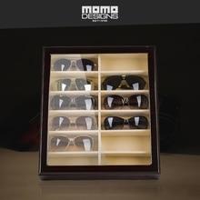 12 солнцезащитных очков чехол для хранения деревянная Роскошная Коллекционная коробка для женщин и мужчин очки дисплей с верхним окном